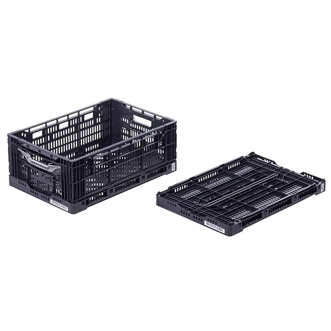 skladacia plastová nádoba prepravka 600x400x232mm 44l čierna megamix.sk