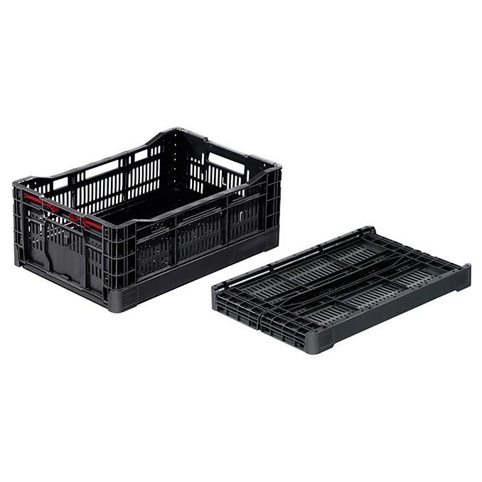 skladacia plastová nádoba prepravka 600x400x240mm 42l čierna megamix.sk