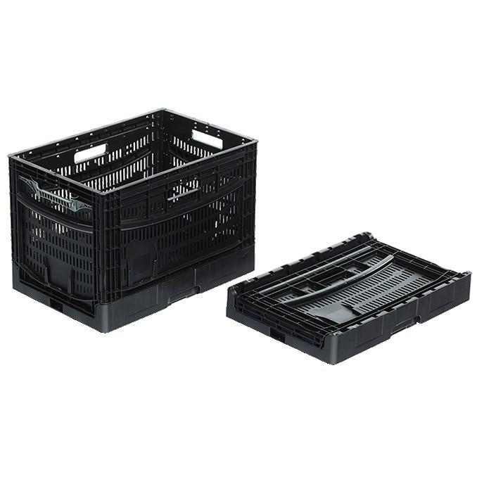 skladacia plastová nádoba prepravka 600x400x410mm 79l čierna megamix.sk