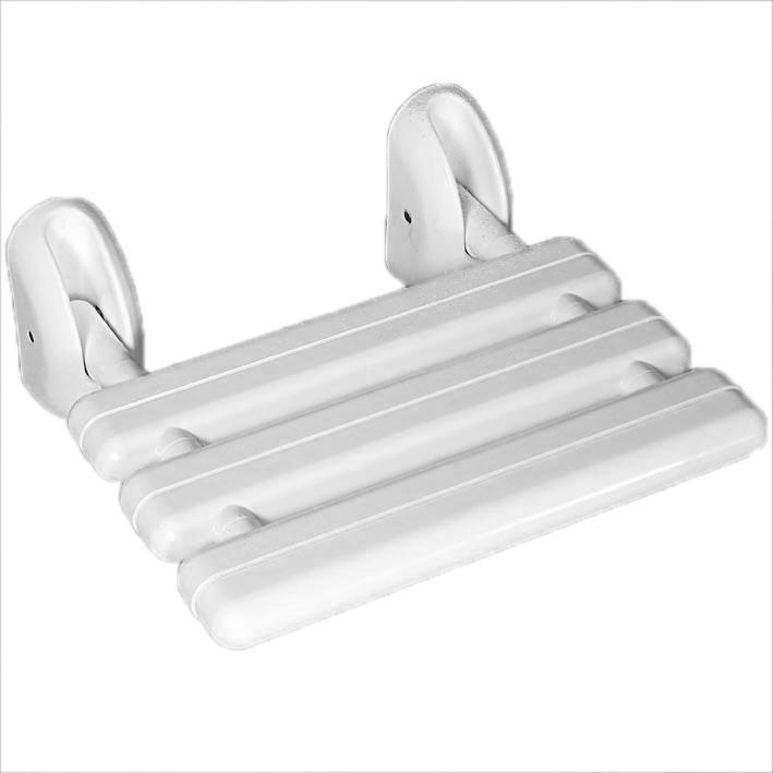 skladacia sprchová stolička do kúpeľne biela megamix.sk