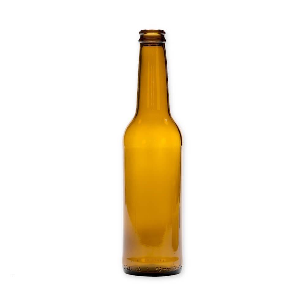 Sklenená fľaša na pivo 330ml 23cm hnedá megamix.sk
