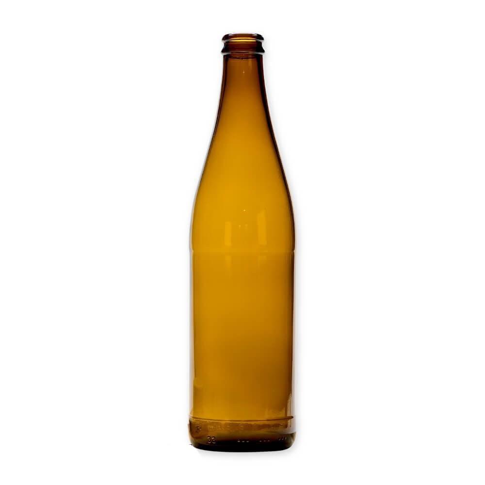 Sklenená fľaša na pivo 500ml 23cm hnedá D2 megamix.sk