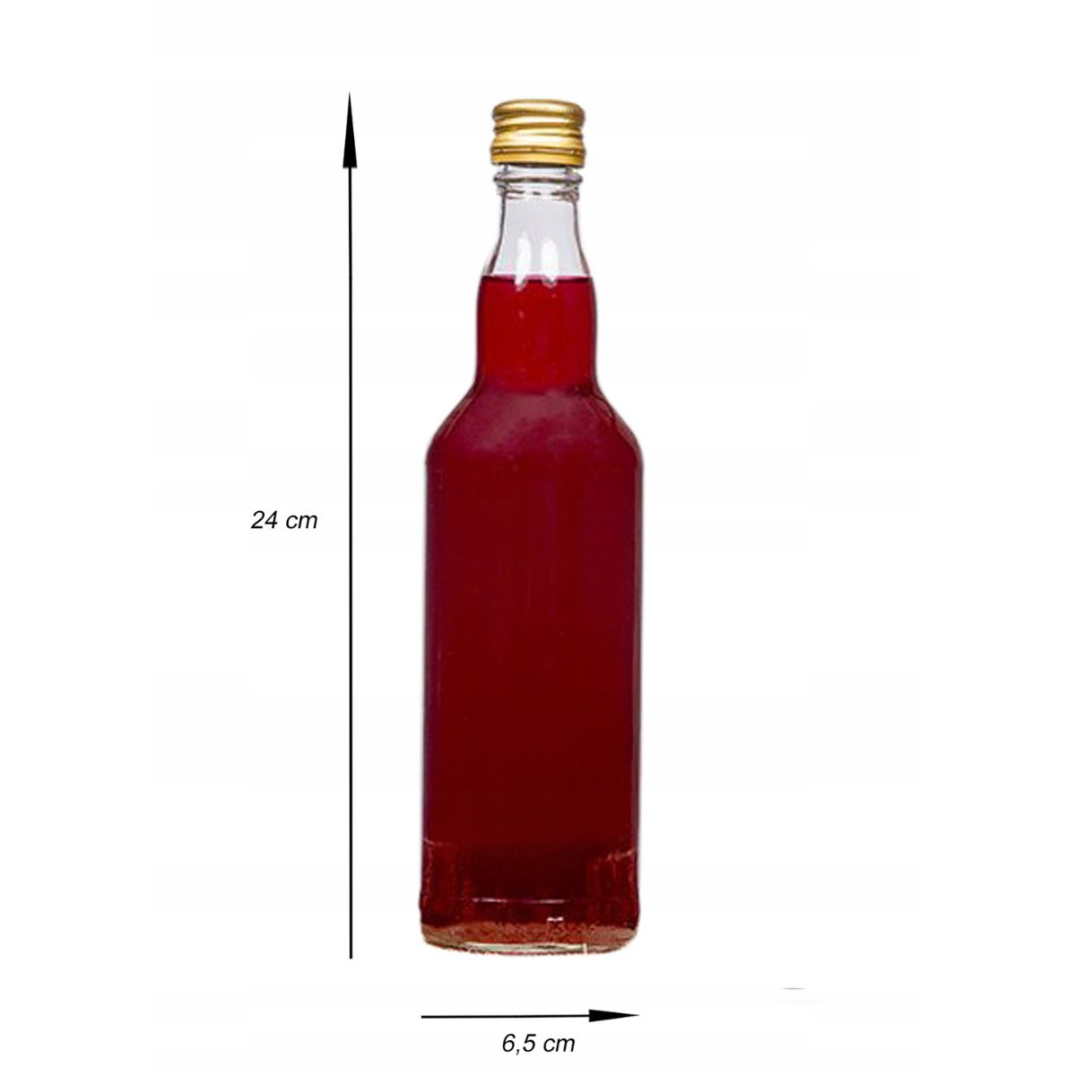 sklenená fľaša s kovovým uzáverom 500ml megamix.sk