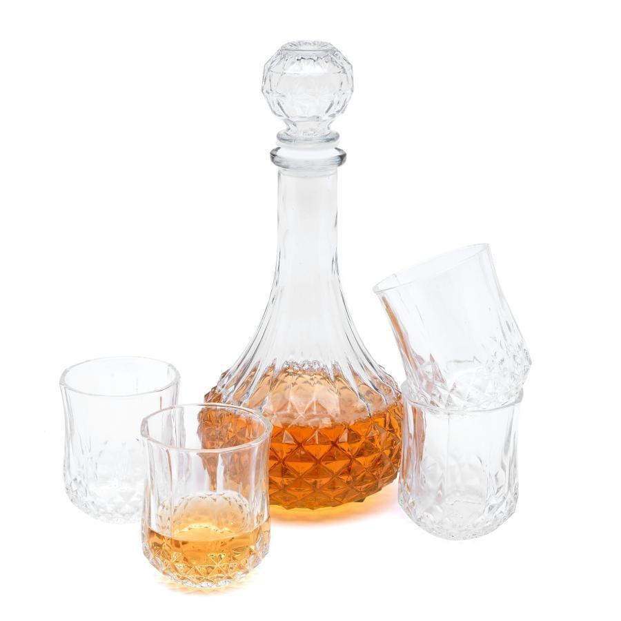 Sklenená karafa a štyri poháre Euforia 800 ml / 200 ml megamix.sk