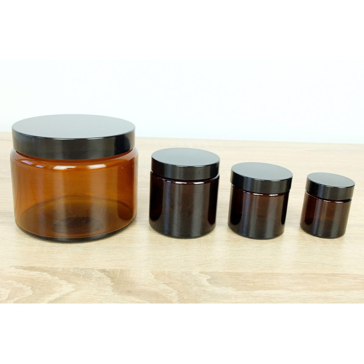 Sklenená nádoba hnedá 500 ml 84x86mm megamix.sk