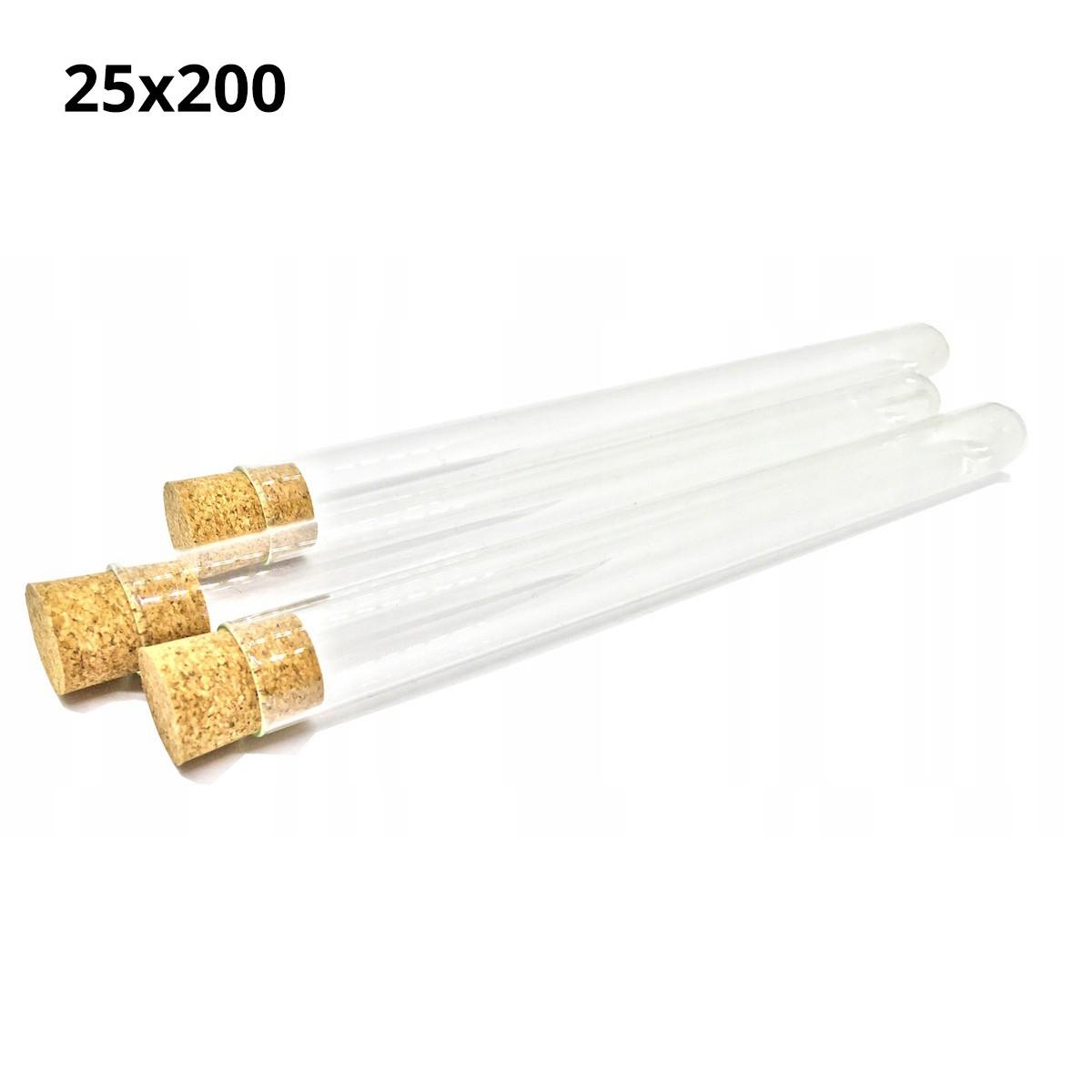 sklenené skúmavky s korkom 200mm priemer 25mm 10ks megamix.sk