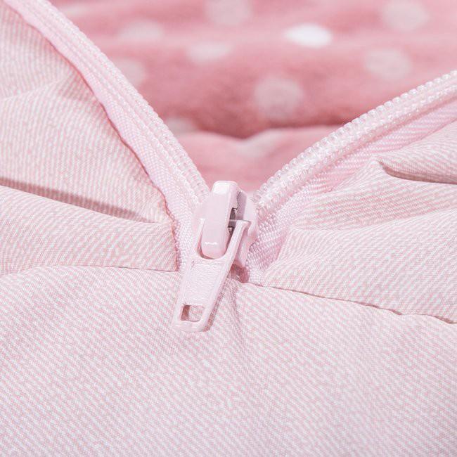 spací vak pre deti 4v1 ružový 90cm polyester sánky kočík megamix.sk