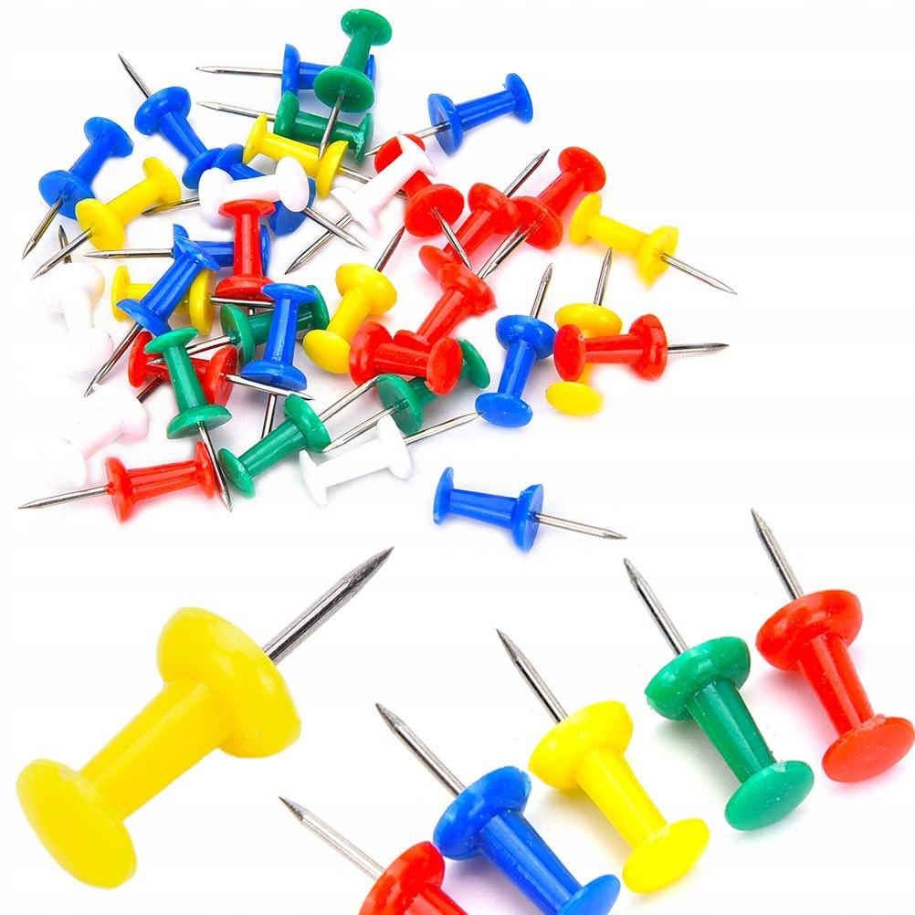 Špendlíky do korkových dosiek 50ks 2cm farebné megamix.sk