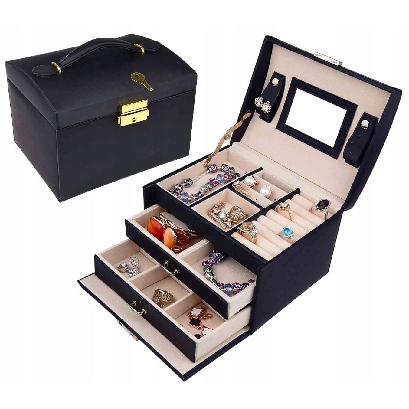 šperkovnica kufrík na bižutériu hodinky šperky megamix.sk