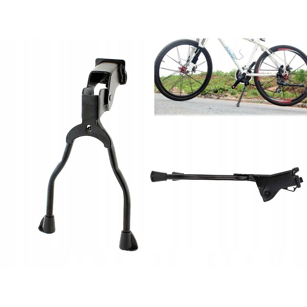 Stojan na bicykel zdvojená noha 35x20cm hliník čierny megamix.sk
