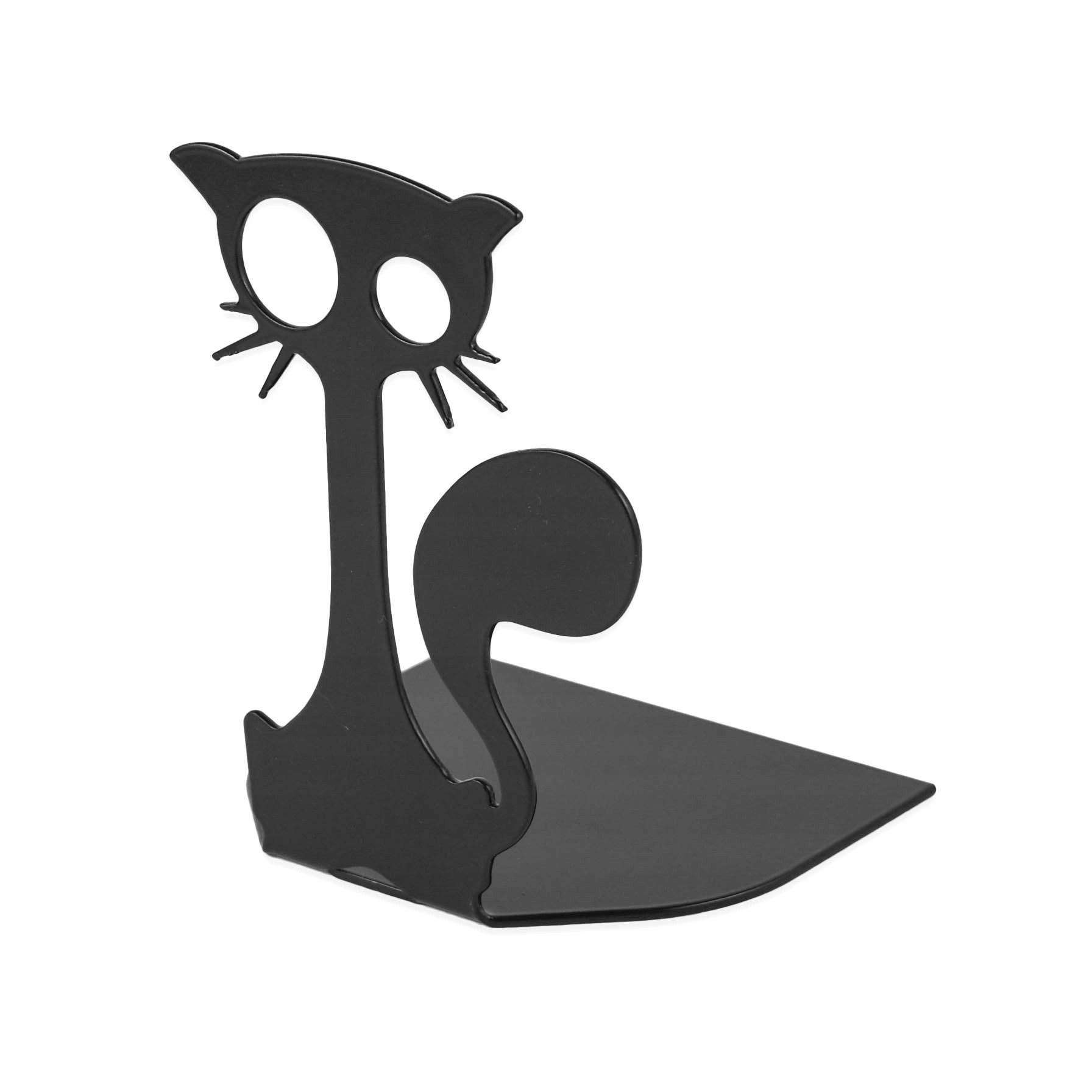 stojan na knihy kovový 10x12x8cm čierna mačka megamix.sk