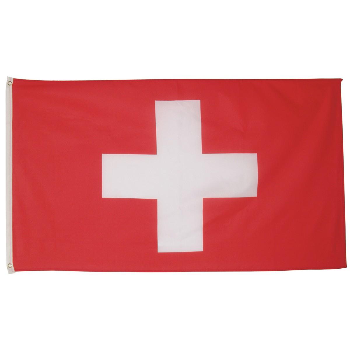 švajčiarska vlajka švajčiarska švajčiarsko 150x90cm obojstranná polyester megamix.sk
