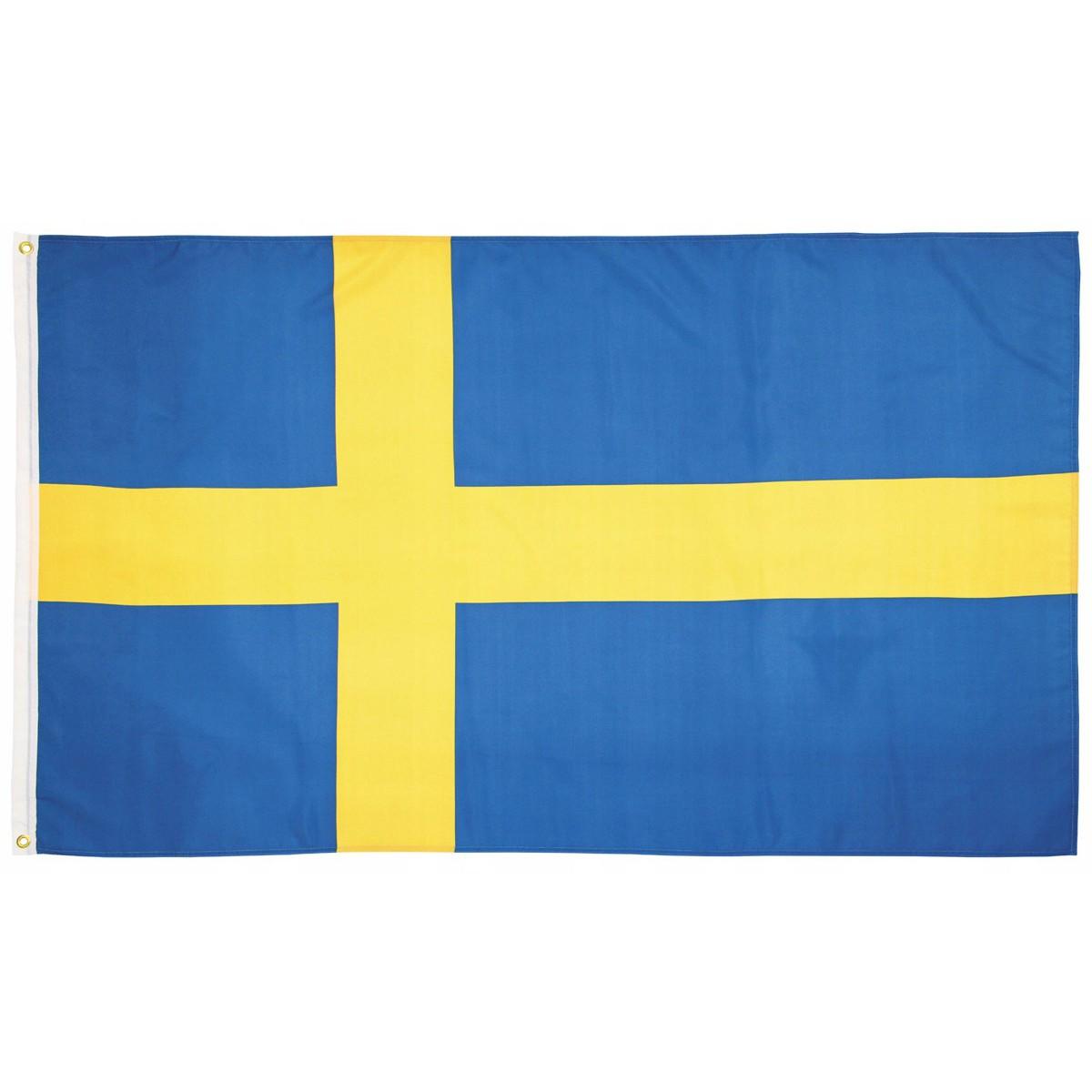 Švédska vlajka Sverige 150x90cm obojstranná polyester megamix.sk