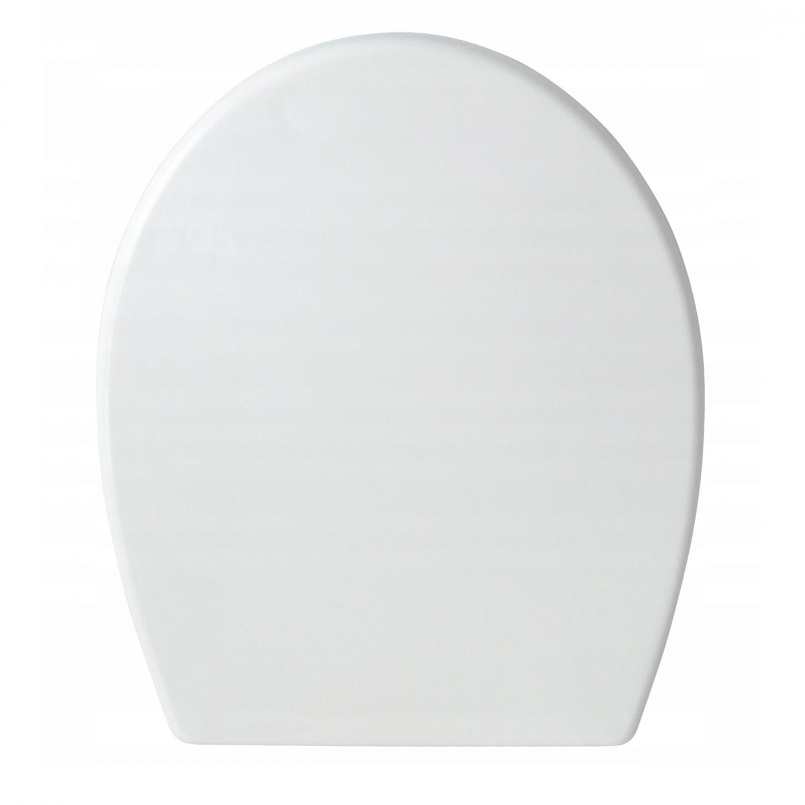 Toaletná WC doska biela 37,3x43,5cm tvrdé sedadlo megamix.sk