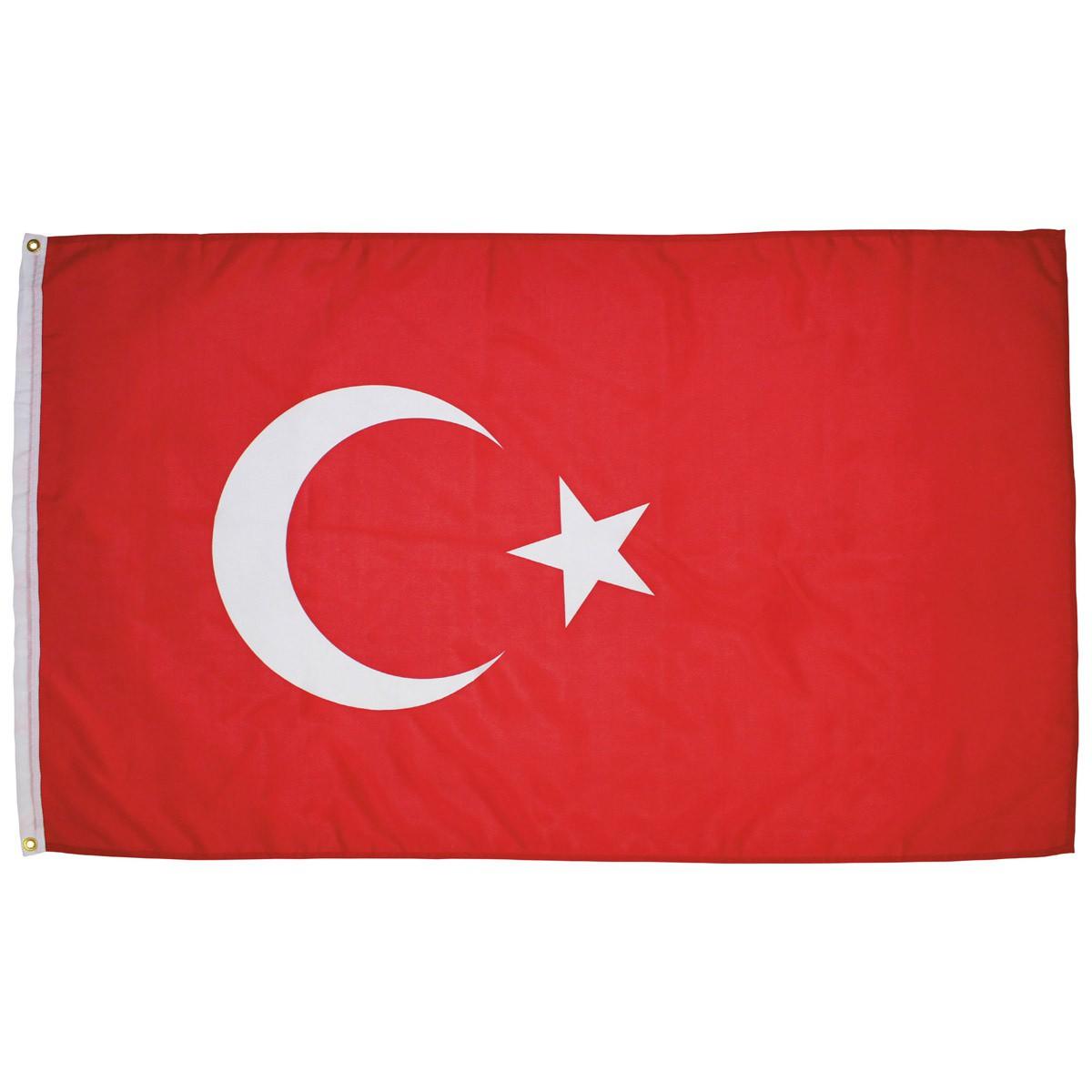 Turecká vlajka 150x90cm obojstranná polyester megamix.sk
