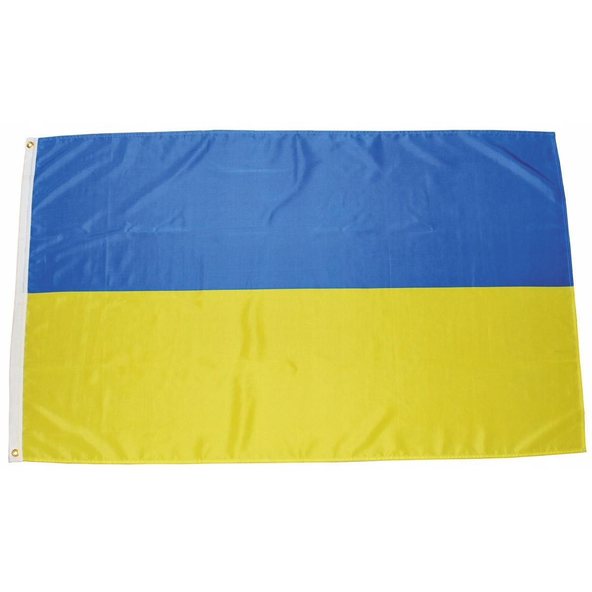 Ukrajinská vlajka 150x90cm obojstranná polyester megamix.sk