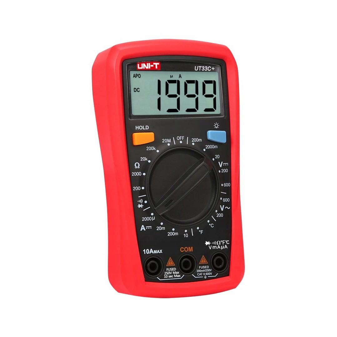 Univerzálny teplomer merač teploty UNI-T UT33C+ UT-33 megamix.sk