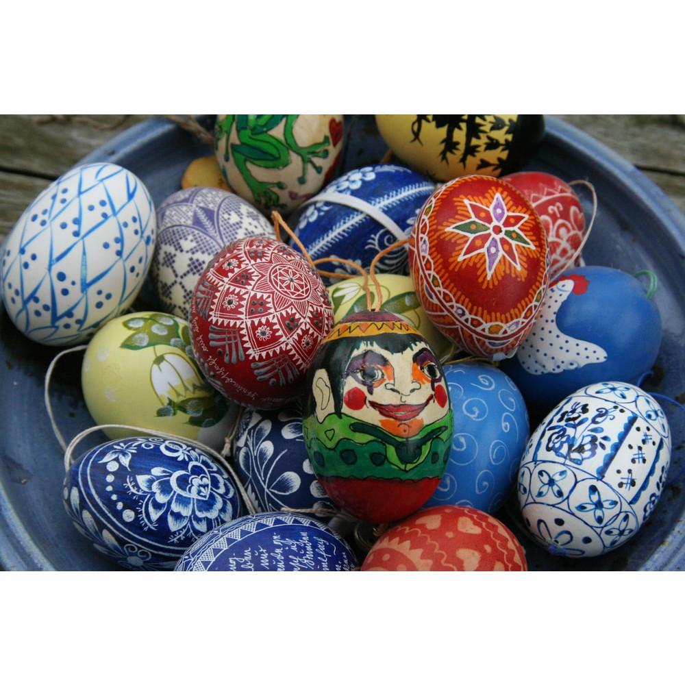 veľkonočné vajíčka zdobenie predaj dekorácie kraslice maľované vrtané  megamix.sk