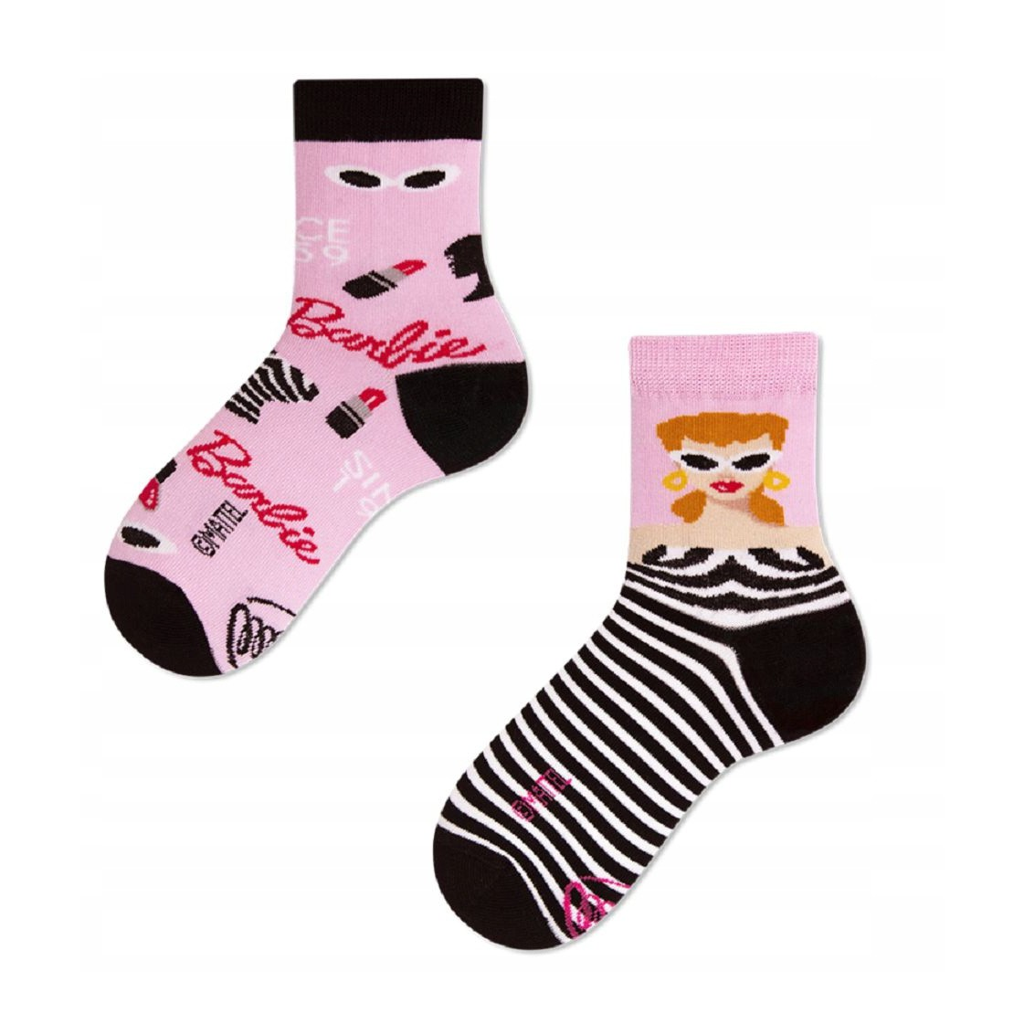Veselé ponožky detské BARBIE móda modelka 31-35 farebné megamix.sk