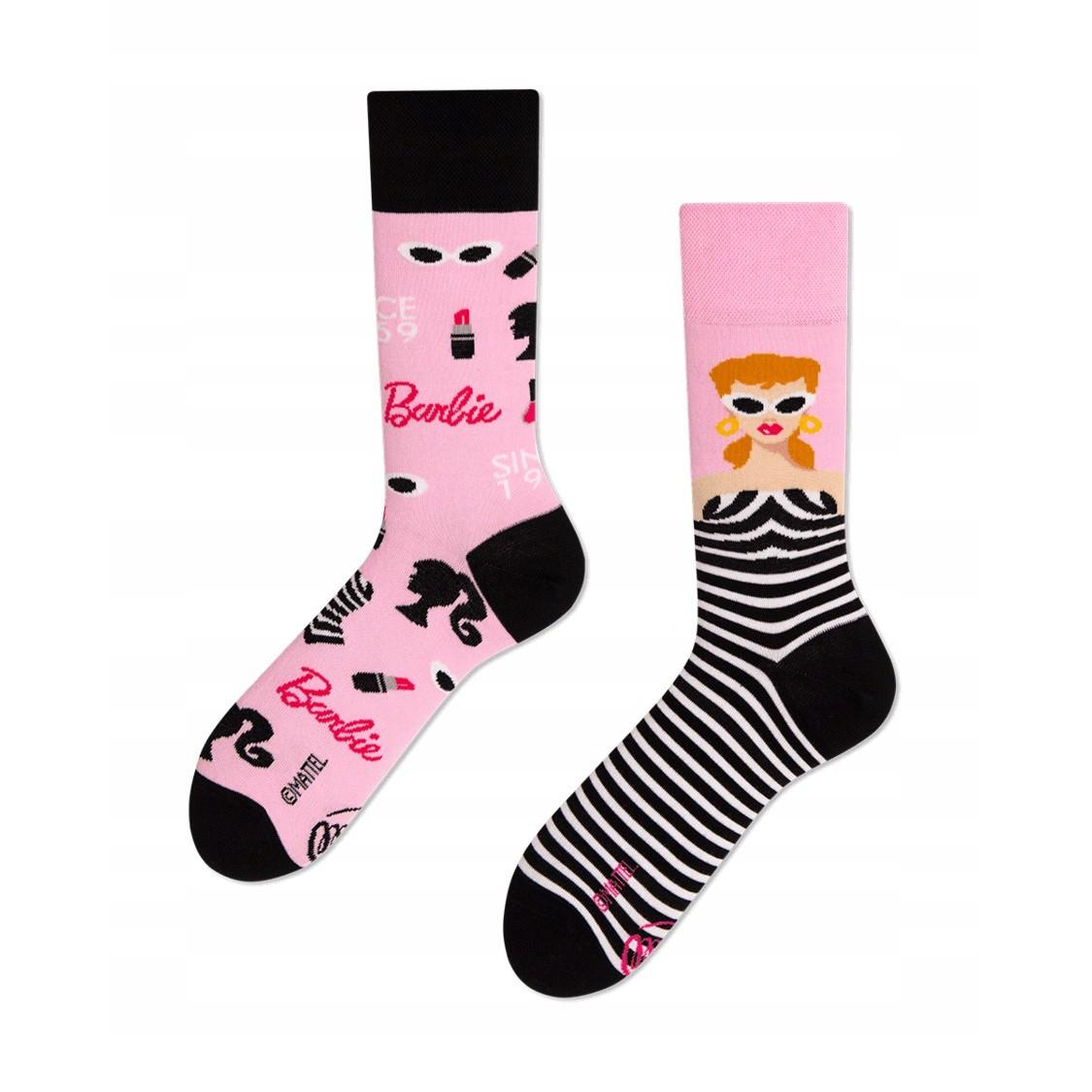 veselé ponožky BARBIE móda modelka 43-46 farebné megamix.sk