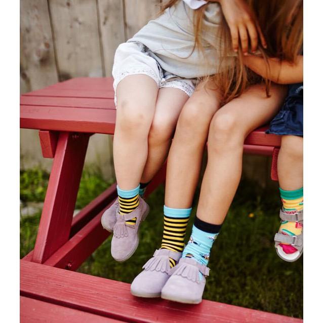 veselé ponožky BEE BEE včielky úľ 23-26 farebné megamix.sk