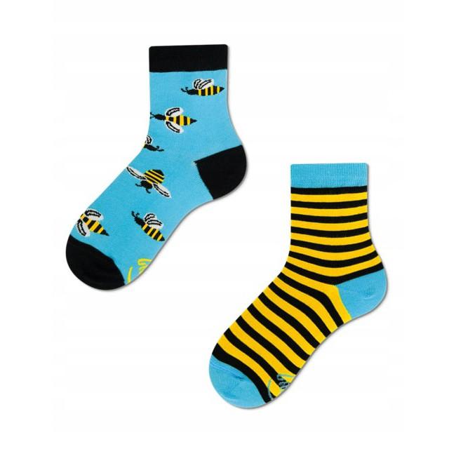 Veselé ponožky detské BEE BEE včielky úľ 27-30 farebné megamix.sk