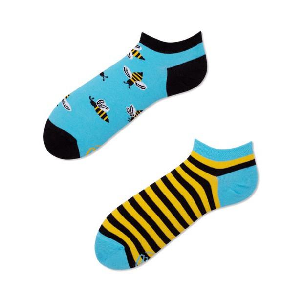 veselé ponožky BEE BEE včielky úľ 39-42 nízke farebné megamix.sk