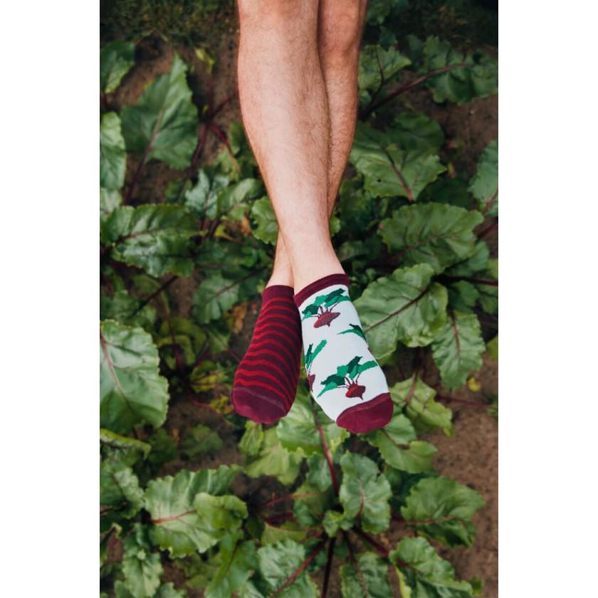veselé ponožky BEETROOT repa 35-38 nízke farebné megamix.sk