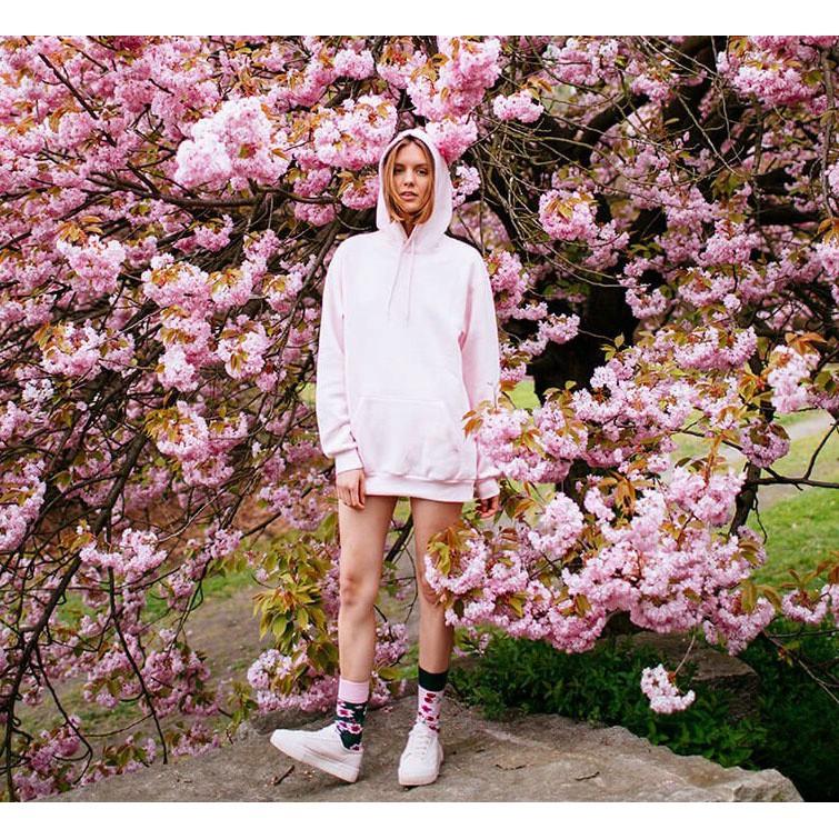veselé ponožky CHERRY BLOSSOM višne kvety 35-38 farebné megamix.sk