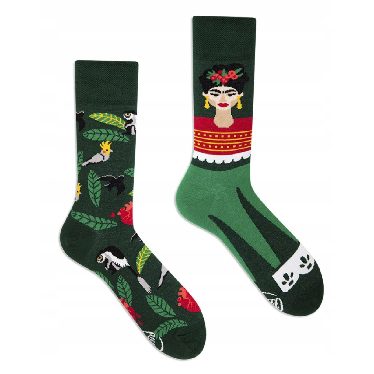 veselé ponožky FEEL FRIDA zelené 39-42 farebné megamix.sk