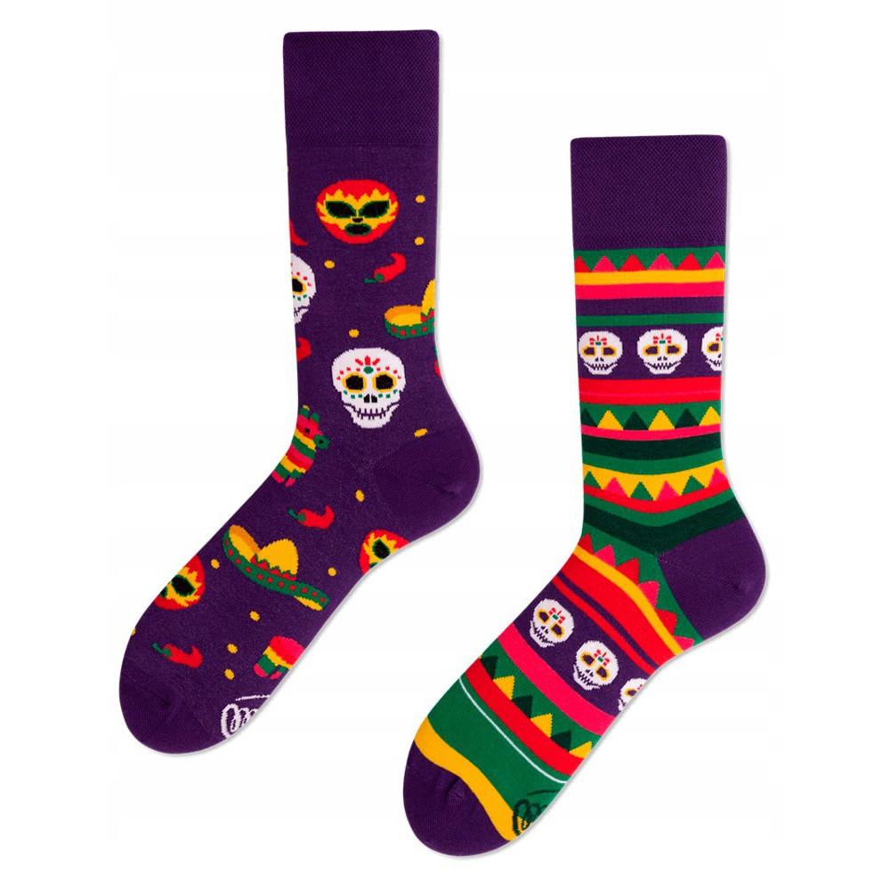 veselé ponožky FIESTA MEXICANA festivalové masky 35-38 farebné megamix.sk