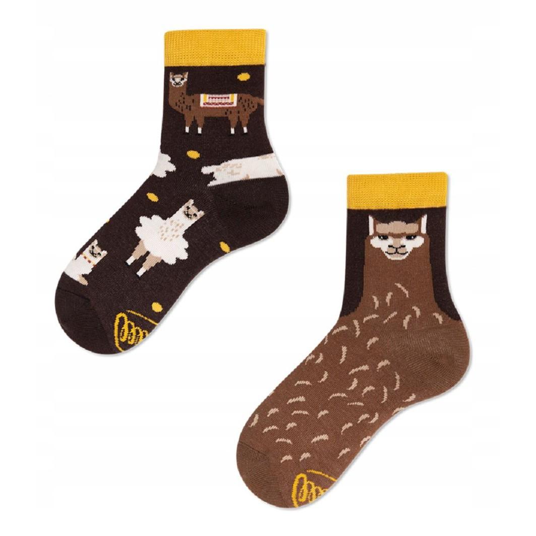 Veselé ponožky detské FLUFFY ALPACA lama alpaka 27-30 farebné megamix.sk