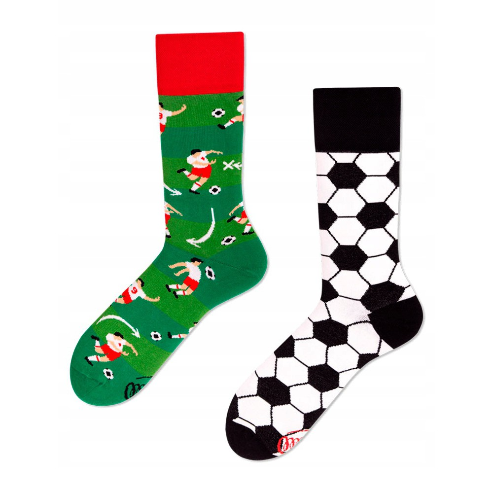 veselé ponožky FOOTBALL FAN futbalista lopta 35-38 farebné megamix.sk