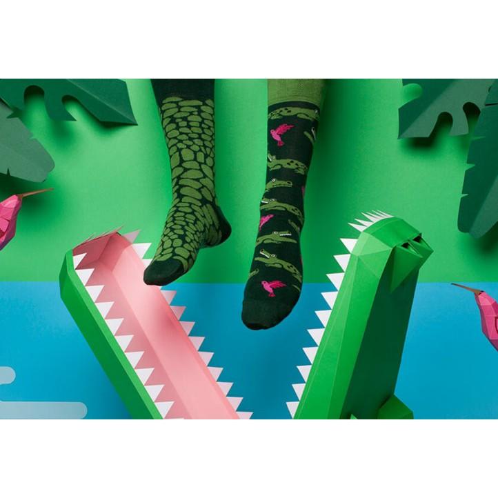 veselé ponožky FORFITER krokodíl vtáky 39-42 nízke farebné megamix.sk