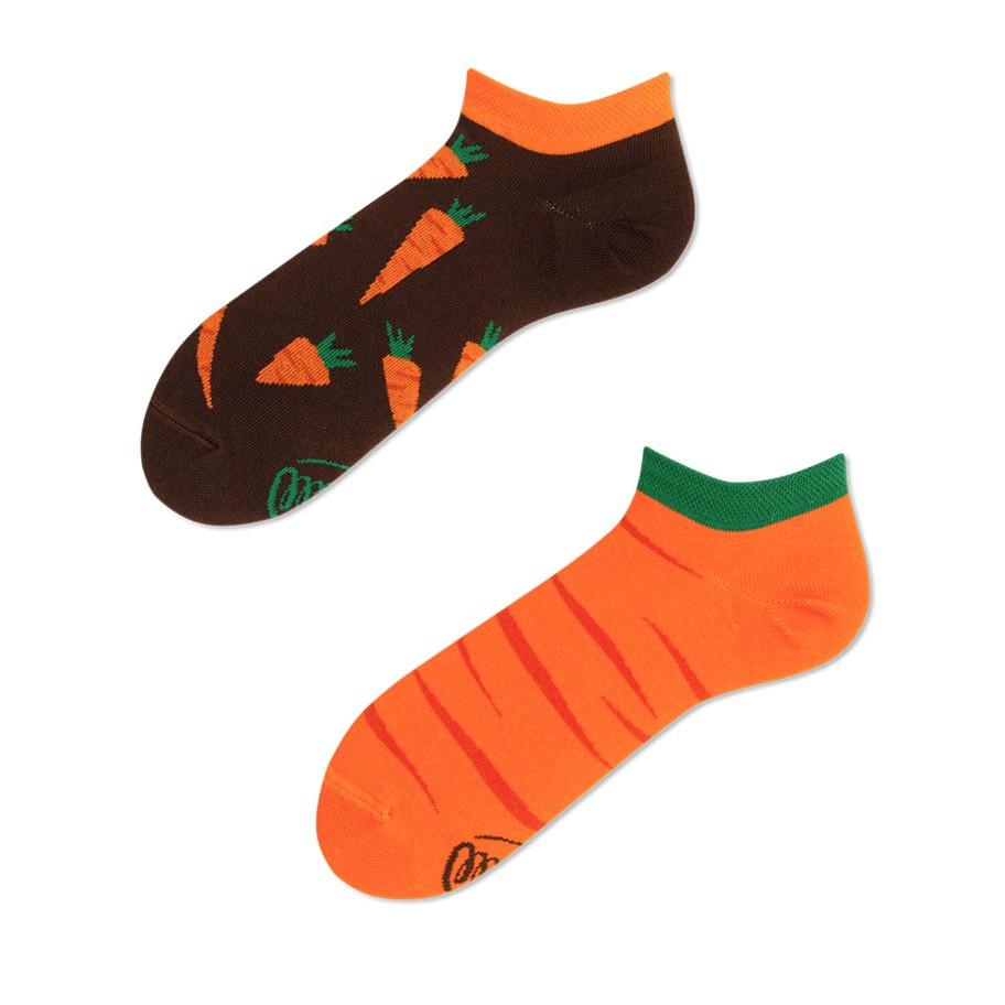 veselé ponožky GARDEN CARROT mrkva 35-38 nízke farebné megamix.sk
