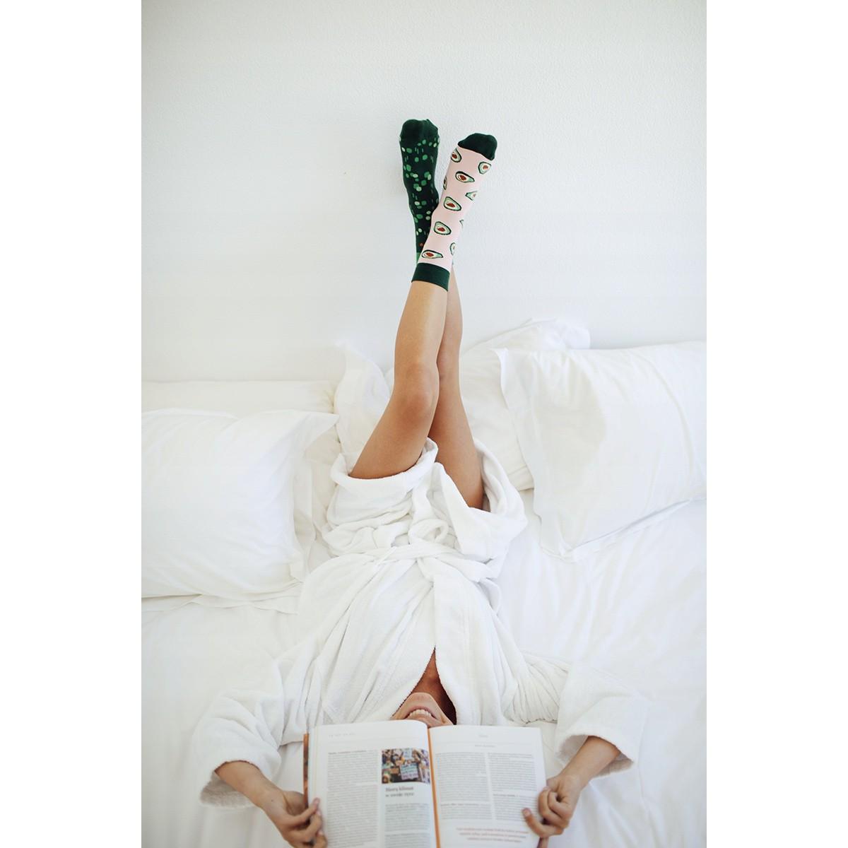 veselé ponožky GREEN AVOCADO zelené avokádo 39-42 farebné megamix.sk