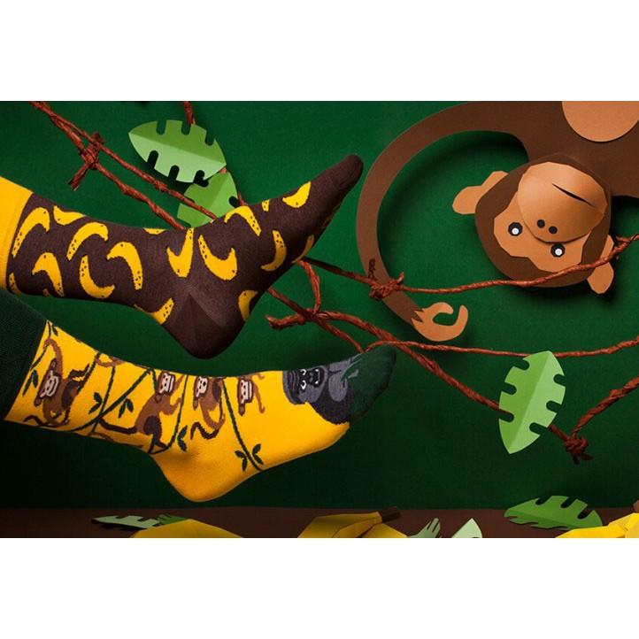 veselé ponožky MONKEY BUSINESS Opice banány 35-38 nízke farebné megamix.sk