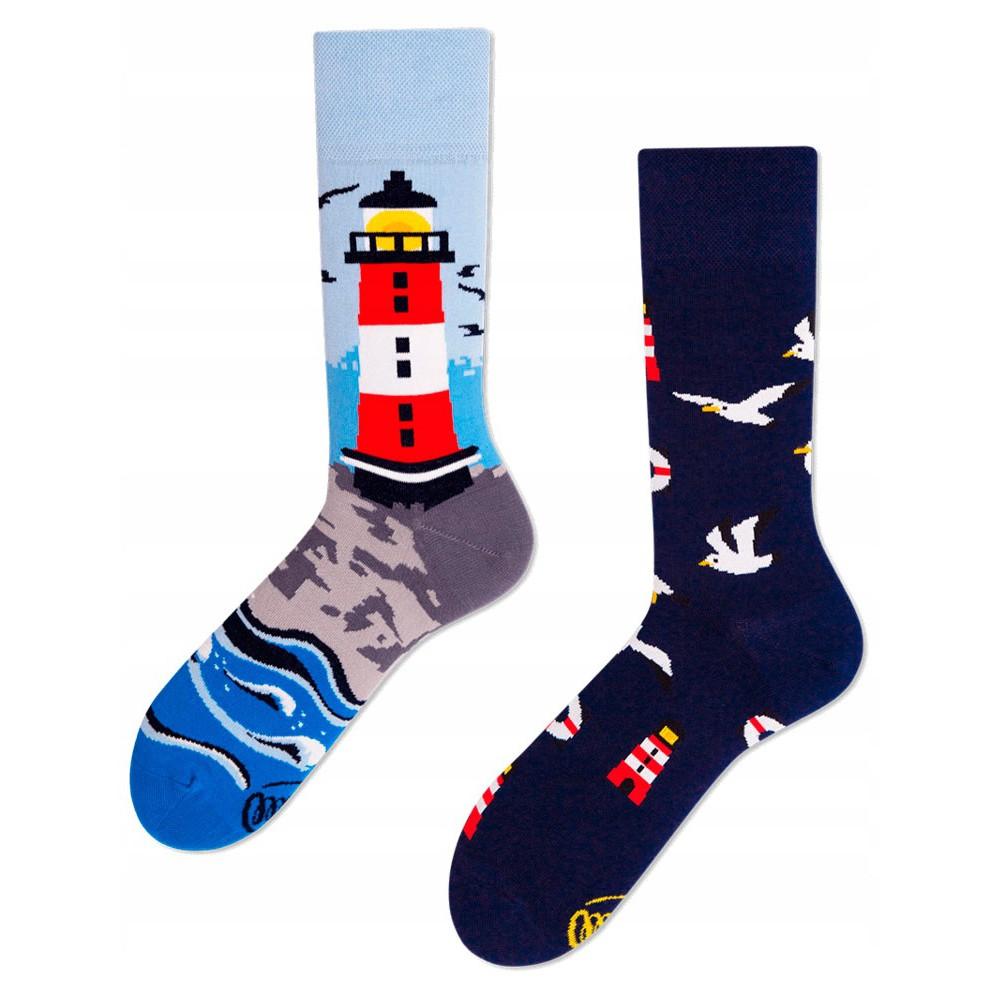 veselé ponožky NORDIC LIGHTHOUSE maják čajky 43-46 farebné megamix.sk