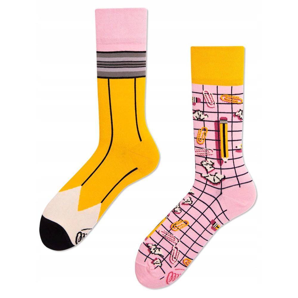veselé ponožky PAPERWORK ceruzka sponky 43-46 farebné megamix.sk
