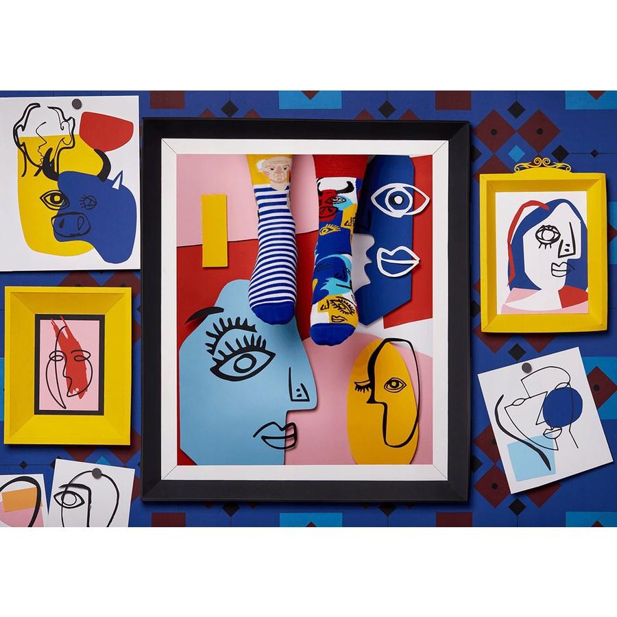 veselé ponožky PICASSOCKS Pablo umenie maľby 35-38 nízke farebné megamix.sk