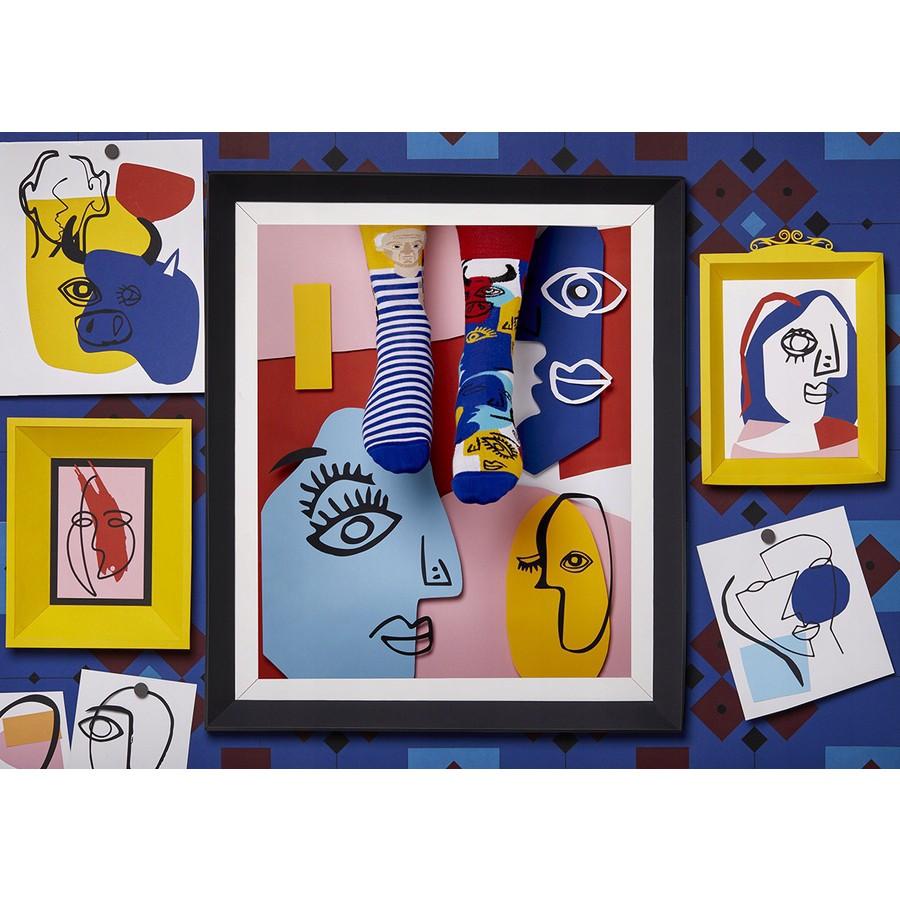veselé ponožky PICASSOCKS Pablo umenie maľby 39-42 farebné megamix.sk