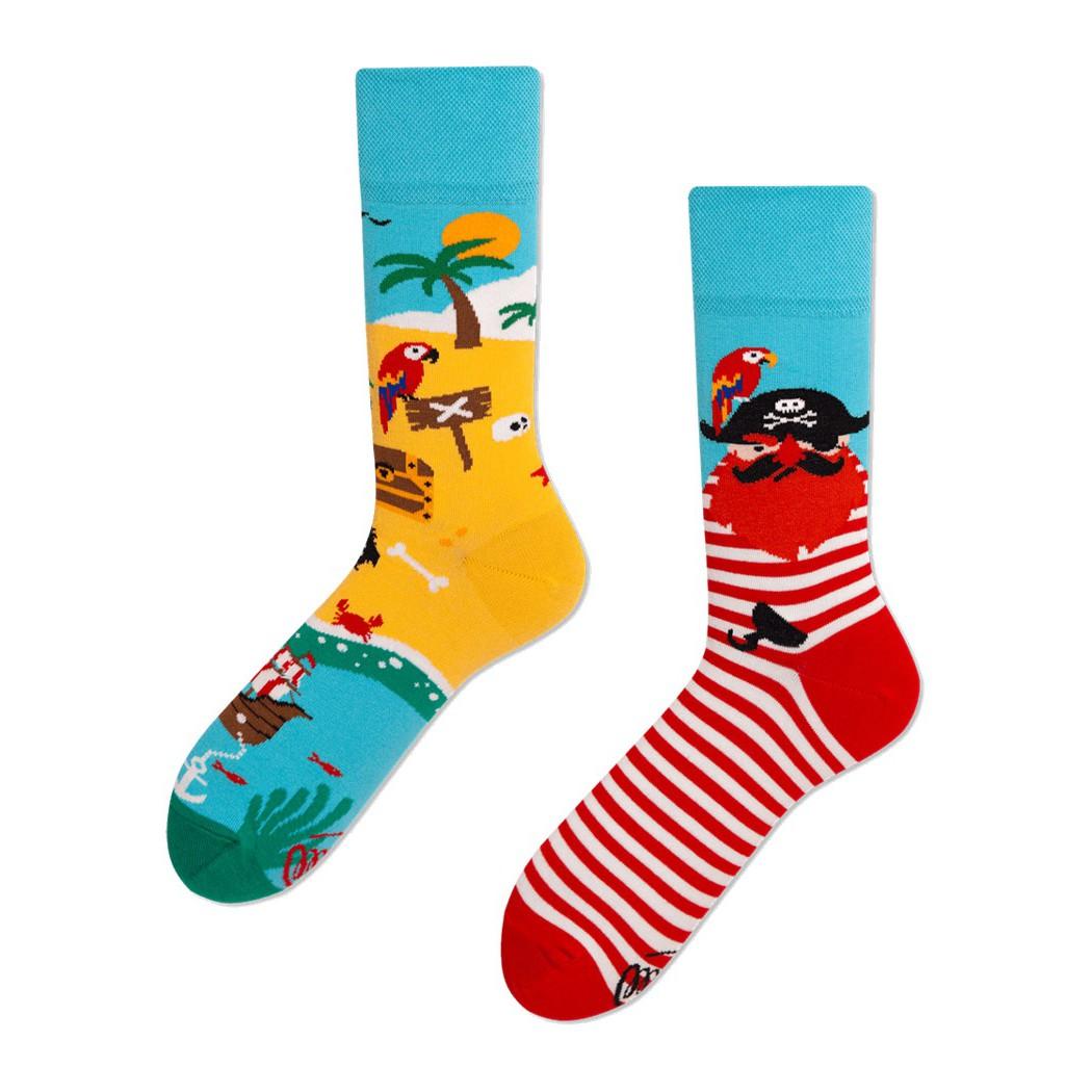 veselé ponožky PIRATE ISLAND pirát ostrov 35-38 farebné megamix.sk