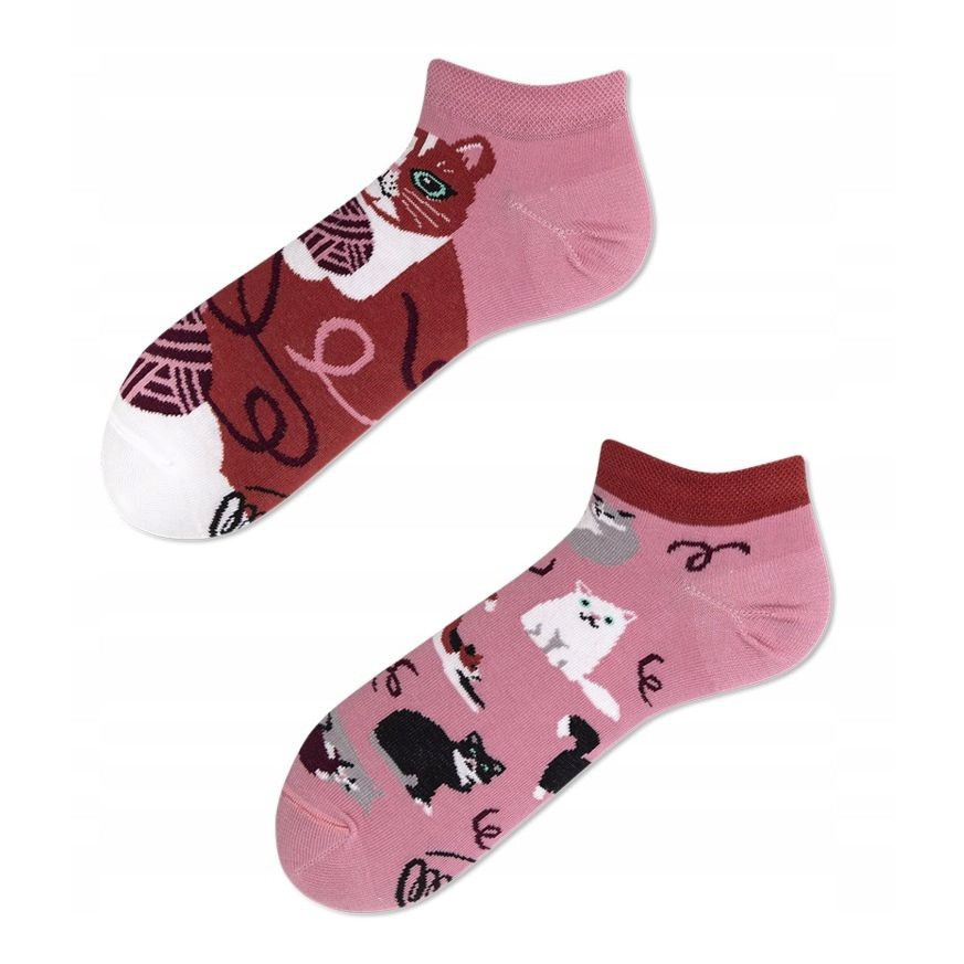 veselé ponožky PLAYFUL CAT mačky klbko vlny 35-38 nízke farebné megamix.sk