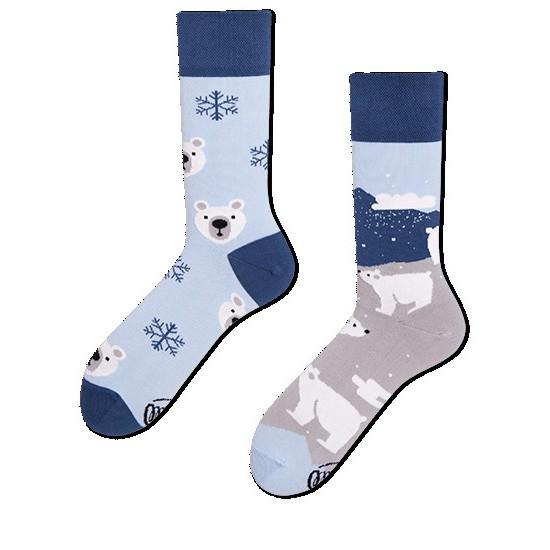 veselé ponožky POLAR BEAR polárny medveď 39-42 farebné megamix.sk
