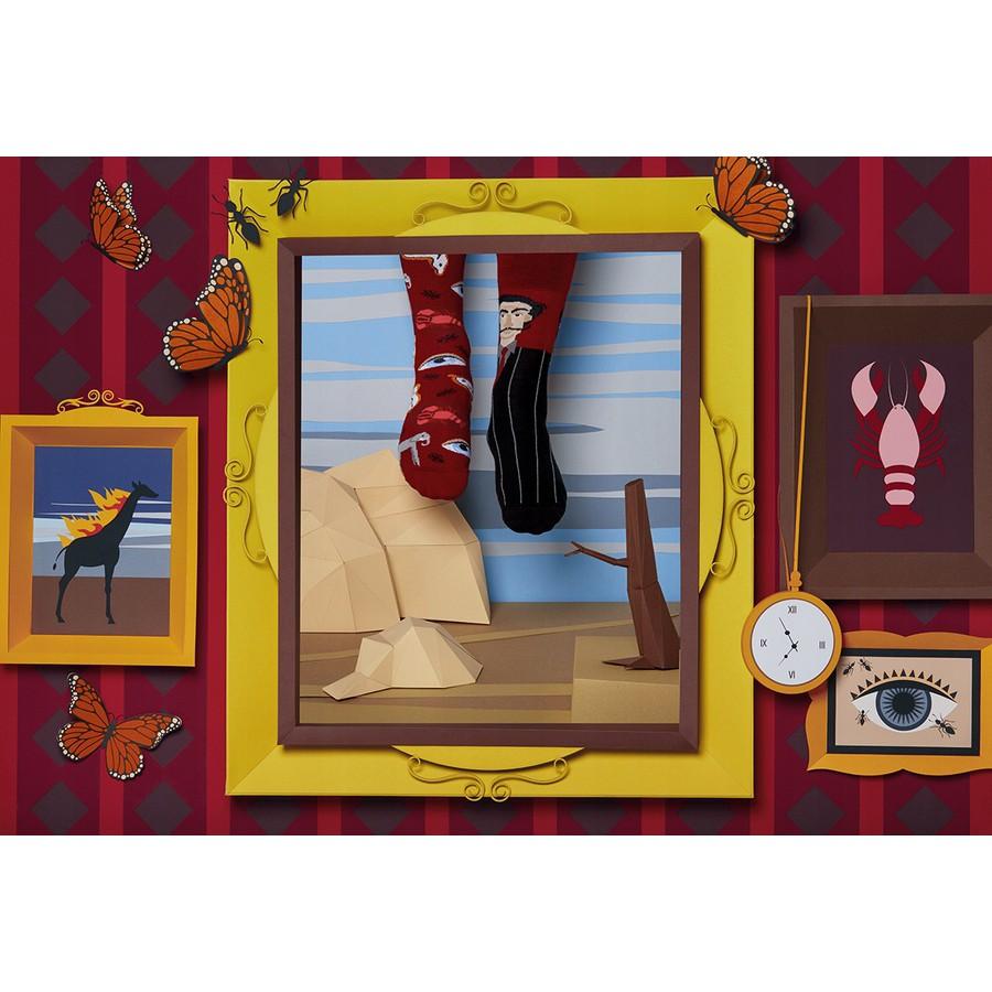 veselé ponožky SALVADORABLE Salvador umenie surrealizmus 43-46 farebné megamix.sk