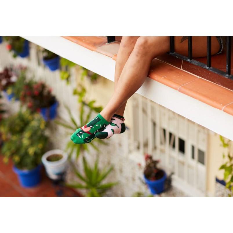 veselé ponožky SUMMER CACTUS kaktus 35-38 nízke farebné megamix.sk