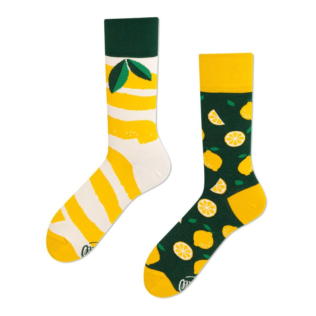 veselé ponožky LEMON citrón lístky 39-42 farebné megamix.sk