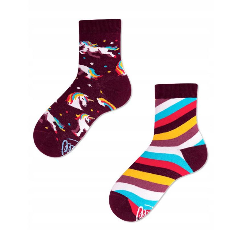 Veselé ponožky detské UNICORN jednorožec 27-30 farebné megamix.sk