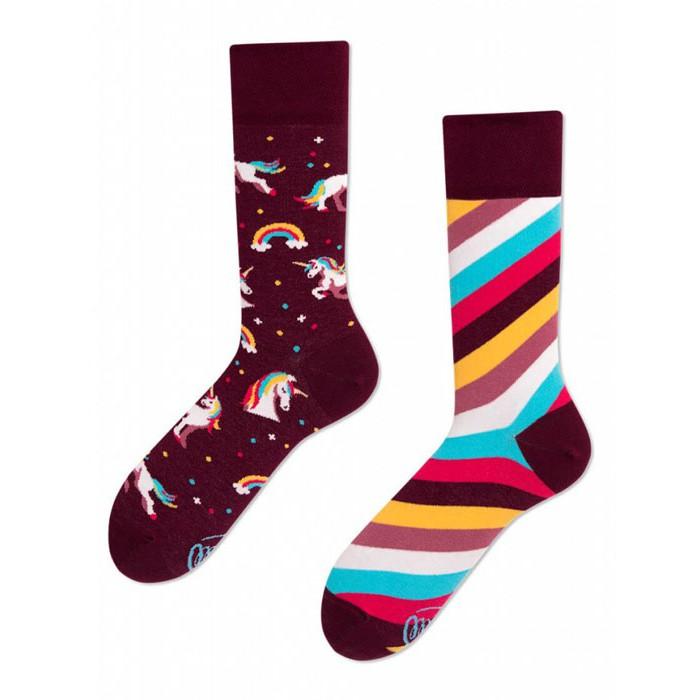 veselé ponožky UNICORN jednorožec 39-42 farebné megamix.sk