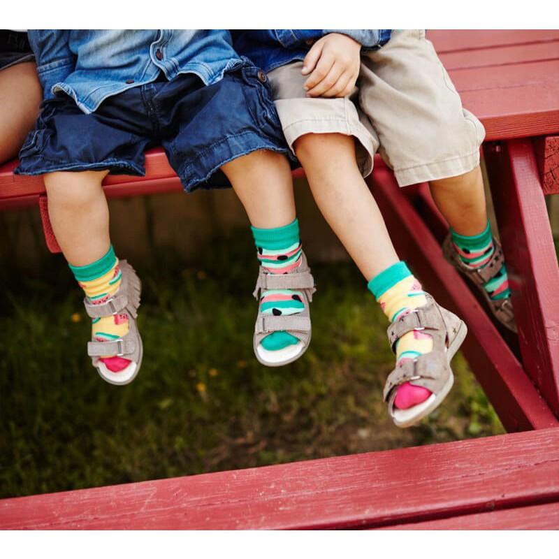 Veselé ponožky detské WATERMELON SPLASH melón jadierka 23-26 farebné megamix.sk